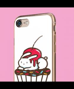 Cherry Bunny - iPhone 7 / iPhone 8 Carcasa Transparenta Silicon