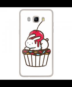 Cherry Bunny - Samsung Galaxy J7 Carcasa Silicon Transparent
