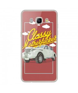 Classy Motherfucker - Samsung Galaxy J7 Carcasa Silicon Transparent