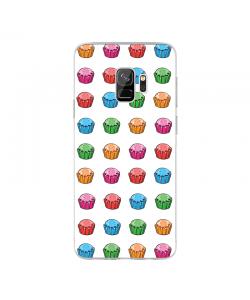 Cupcake Pattern - Samsung Galaxy S9 Carcasa Transparenta Silicon