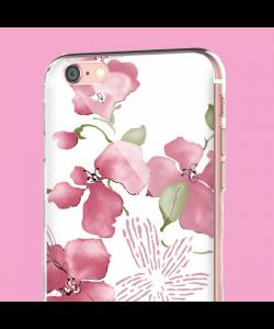 Delicate Petals - iPhone 6 Carcasa Transparenta Silicon
