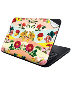 Flowers, Stripes & Dots - Laptop Generic Skin