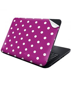 Purple White Dots - Laptop Generic Skin