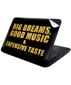 Good Music Black - Laptop Generic Skin