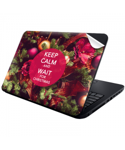 Keep Calm and Wait for Christmas - Laptop Generic Skin