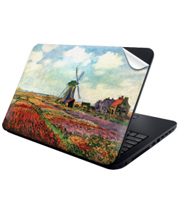 Claude Monet - Fields of Tulip With The Rijnsburg Windmill - Laptop Generic Skin