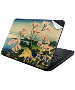 Hokusai - The Fuji from Gotenyama at Shinagawa on the Tokaido - Laptop Generic Skin