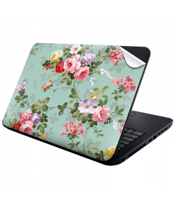 Retro Flowers Wallpaper - Laptop Generic Skin
