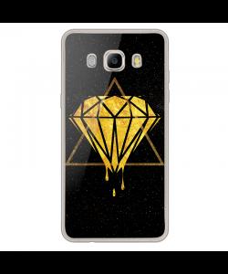 Diamond - Samsung Galaxy J7 Carcasa Silicon Transparent