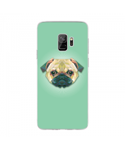 Dog - Samsung Galaxy S9 Carcasa Transparenta Silicon