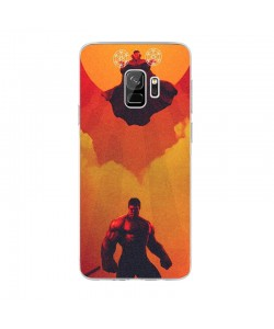 Dr. Strange & Hulk - Samsung Galaxy S9 Carcasa Transparenta Silicon
