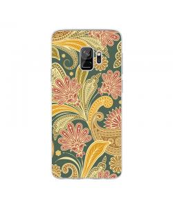 Floral Shapes - Samsung Galaxy S9 Carcasa Transparenta Silicon