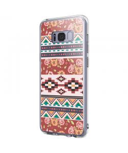 Floral Aztec - Samsung Galaxy S8 Carcasa Premium Silicon