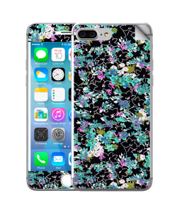 Floral Black - iPhone 7 Plus Skin
