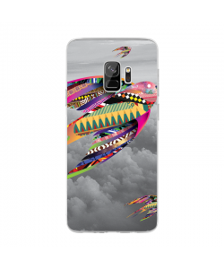 Flying Colors - Samsung Galaxy S9 Carcasa Transparenta Silicon