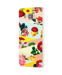 Flowers, Stripes & Dots - Samsung Galaxy J5 Carcasa Silicon