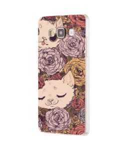 Flower Cats - Samsung Galaxy J5 Carcasa Silicon