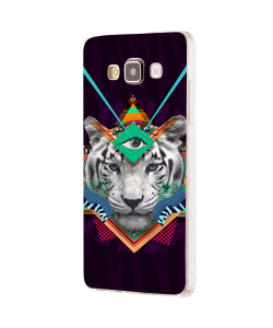 Eyes of the Tiger - Samsung Galaxy J5 Carcasa Silicon