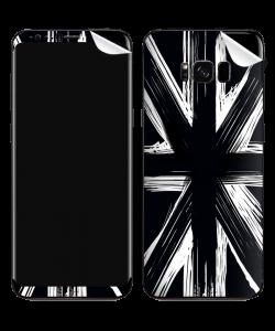 Black UK Flag - Samsung Galaxy S8 Plus Skin