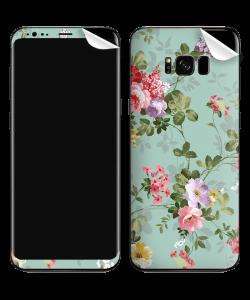 Retro Flowers Wallpaper - Samsung Galaxy S8 Plus Skin