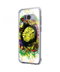 Gold Lion - Samsung Galaxy S8 Plus Carcasa Premium Silicon