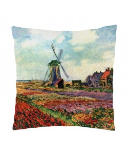 Perna decorativa - Claude Monet - Fields of Tulip With The Rijnsburg Windmill