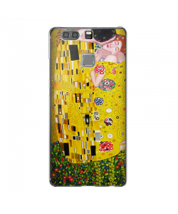 Gustav Klimt - The Kiss - Huawei P9 Carcasa Transparenta Silicon