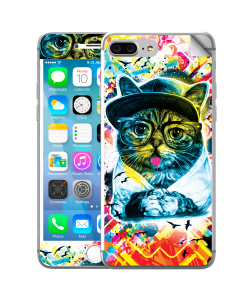 Hipster Meow - iPhone 7 Plus Skin