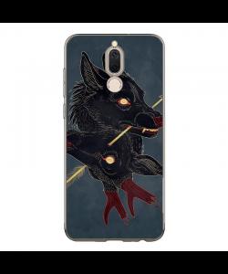 Cryptid Wolves - Huawei Mate 10 Lite Carcasa Transparenta Silicon