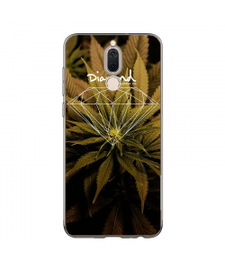 Diamond Marijuana - Huawei Mate 10 Lite Carcasa Transparenta Silicon