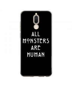 All Monsters are Human - Huawei Mate 10 Lite Carcasa Transparenta Silicon