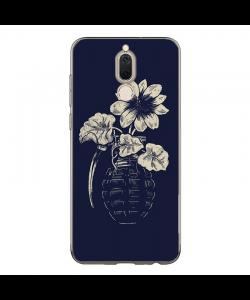 Flower Grenade - Huawei Mate 10 Lite Carcasa Transparenta Silicon