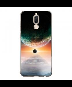 Planet with Moon - Huawei Mate 10 Lite Carcasa Transparenta Silicon