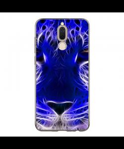 Blue Neon Lion - Huawei Mate 10 Lite Carcasa Transparenta Silicon
