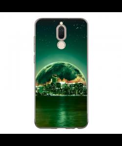 Fantasy Green City - Huawei Mate 10 Lite Carcasa Transparenta Silicon