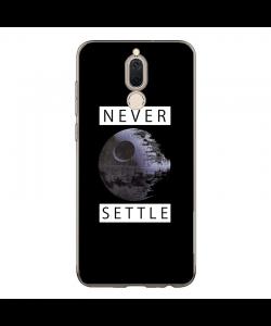 Never Settle - Huawei Mate 10 Lite Carcasa Transparenta Silicon