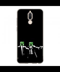 Minecraft Pulp Fiction - Huawei Mate 10 Lite Carcasa Transparenta Silicon