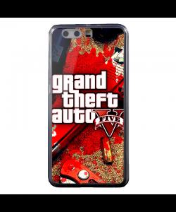 Grand Theft Auto V - Huawei P10 Plus Carcasa Transparenta Silicon