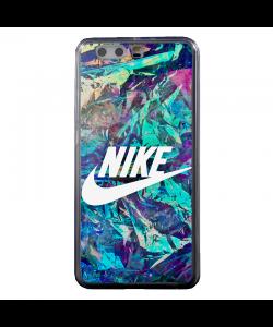 Glitchy Nike - Huawei P10 Plus Carcasa Transparenta Silicon