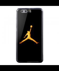 Golden Jordan Logo - Huawei P10 Plus Carcasa Transparenta Silicon