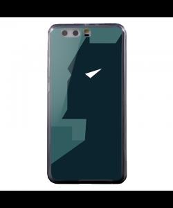 Batman Grey & Black - Huawei P8 Lite Carcasa Transparenta Silicon
