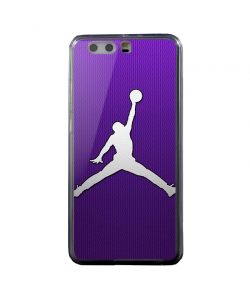 Purple Jordan - Huawei P10 Plus Carcasa Transparenta Silicon