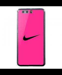 Pink Nike - Huawei P8 Lite Carcasa Transparenta Silicon