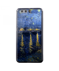 Van Gogh - Starryrhone - Huawei P10 Plus Carcasa Transparenta Silicon