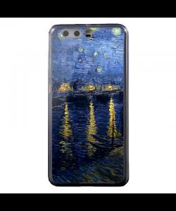 Van Gogh Starry Night - Huawei P8 Lite Carcasa Transparenta Silicon