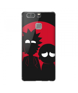 Rick and Morty - Huawei P9 Carcasa Transparenta Silicon