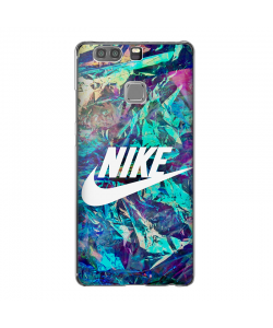 Glitchy Nike - Huawei P10 Lite Carcasa Transparenta Silicon