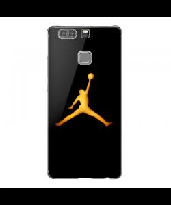 Golden Jordan Logo - Huawei P9 Plus Carcasa Transparenta Silicon