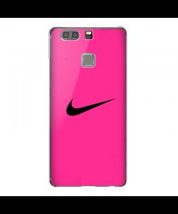 Pink NIke- Huawei P9 Plus Carcasa Transparenta Silicon