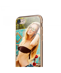 Personalizare - iPhone 7 / iPhone 8 Carcasa Transparenta Silicon